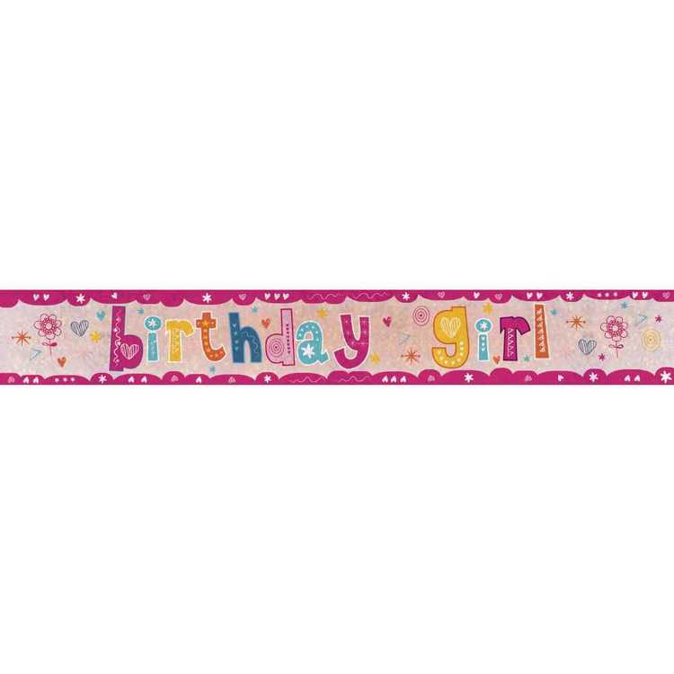 Amscan Holographic Birthday Girl Banner