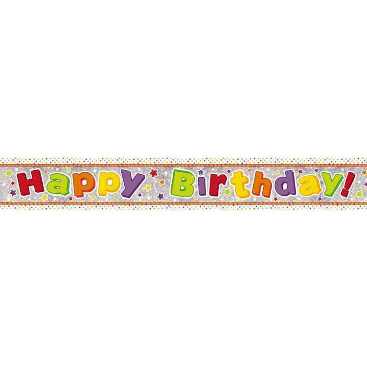 Amscan Holographic Happy Birthday Juv Banner