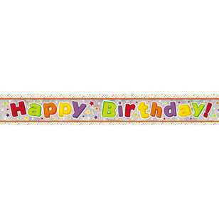 Amscan Holographic Happy Birthday Juv Banner