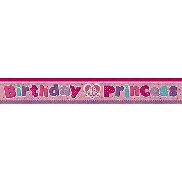 Amscan Holographic Birthday Princes Banner