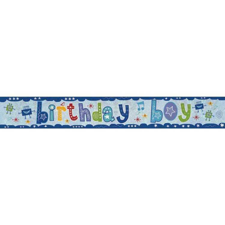 Amscan Holographic Birthday Boy Banner