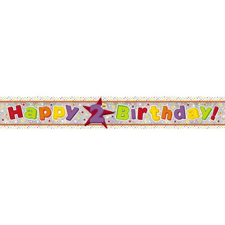 Amscan Holographic 2nd Happy Birthday Banner