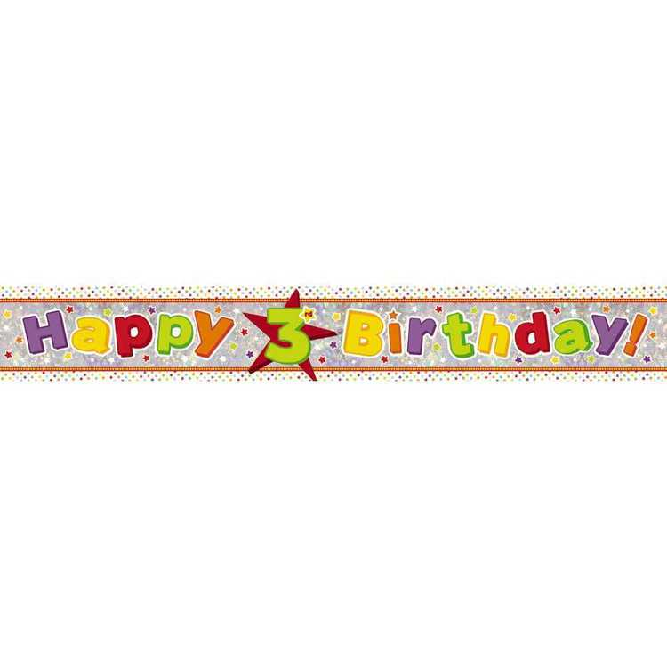 Amscan Holographic 3rd Happy Birthday Banner