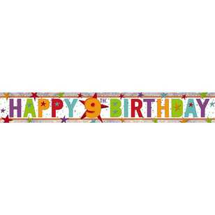 Amscan Holographic 9th Happy Birthday Banner