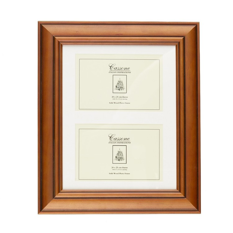 Unigift Cassone 2 Open Wooden Matted Frame Brown 15 x 10 cm