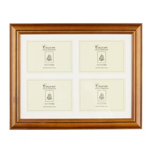 Unigift Cassone 4 Open Wooden Matted Frame