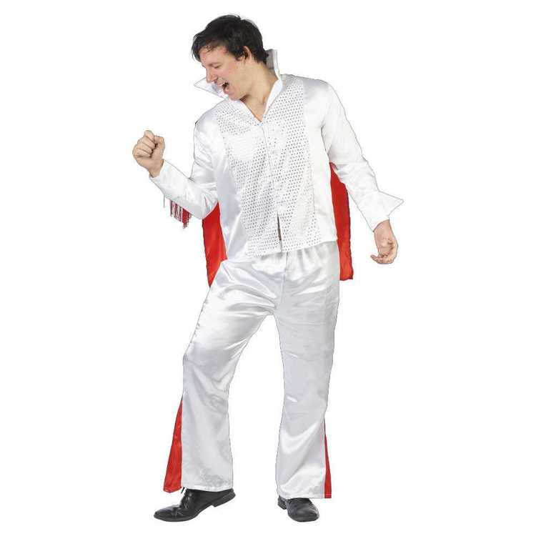 Rock Star Costume White & Red Large / X Large - Everyday Bargain