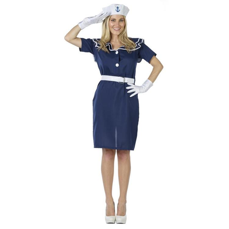 Sailor Lady Costume Blue - Everyday Bargain
