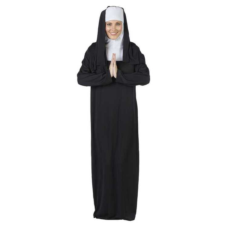 Nun Costume White & Black One Size Fits Most