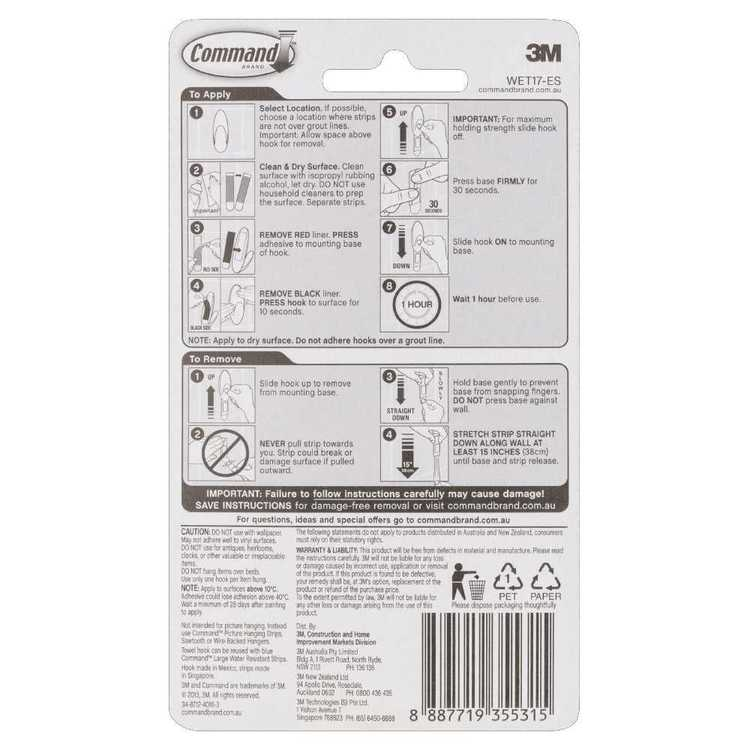 3M Command Wet & Dry Hook White