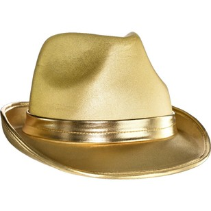 Supporter Metallic Fedora Hat