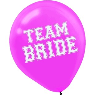 Girls Night Out Team Bride Latex Balloons