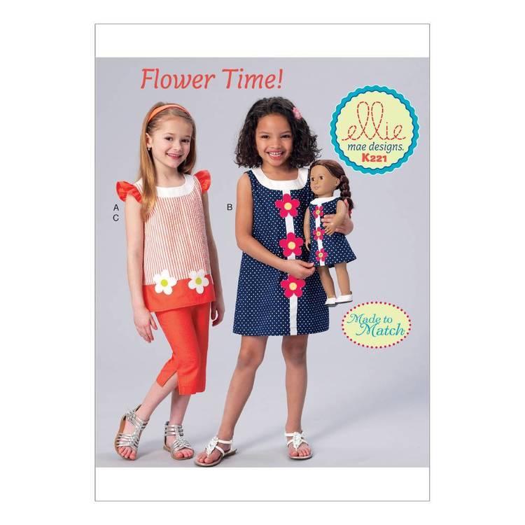 Kwik Sew Pattern K0221 Girls' Banded