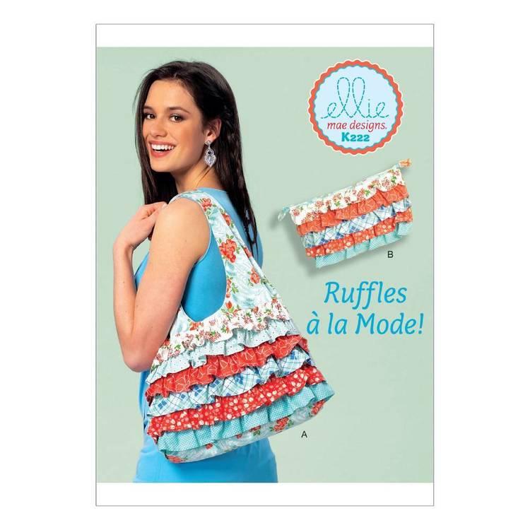Kwik Sew Pattern K0222 Shoulder Bag & Cosmetic Pouch