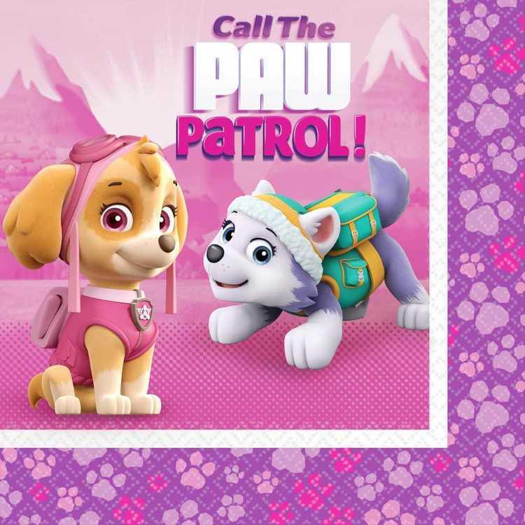 Paw Patrol Nickelodeon Girls Napkins 16 Pack