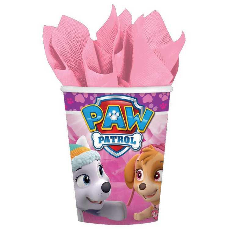 Paw Patrol Nickelodeon Girls Cups 8 Pack