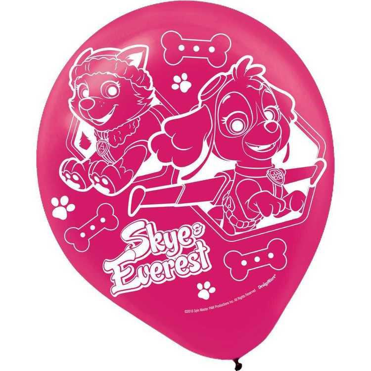 Paw Patrol Nickelodeon Girls Latex Balloons 6 Pack