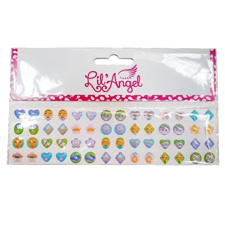 Party Additions Lil Angel Stick On Earrings