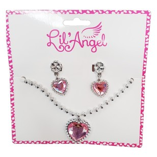 Party Additions Lil Angel Earring And Necklace Set