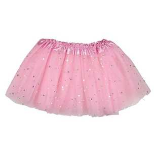 Party Additions Pink Glitter Star Skirt