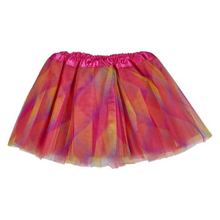 Party Additions Rainbow Printed Skirt