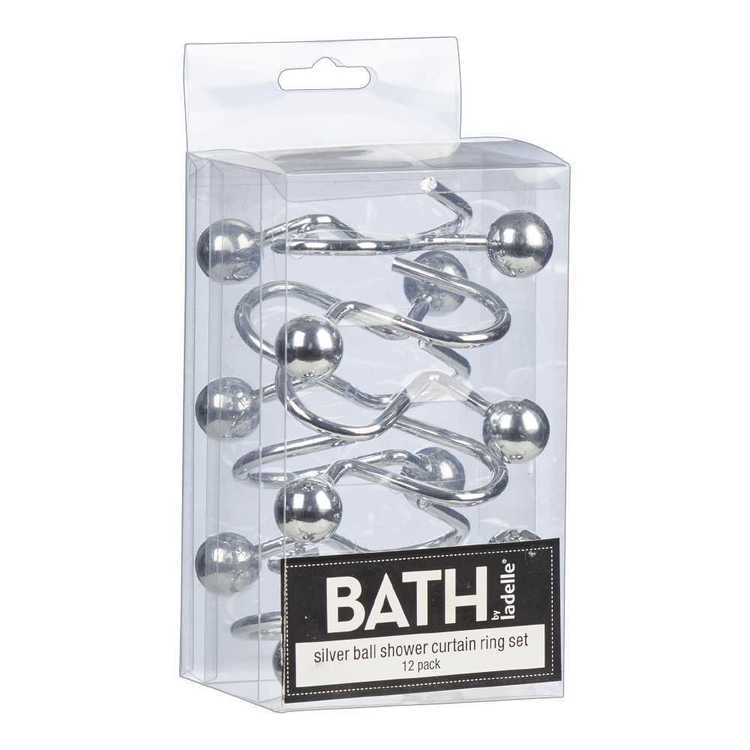 Bath By Ladelle Ball Shower Curtain Rings