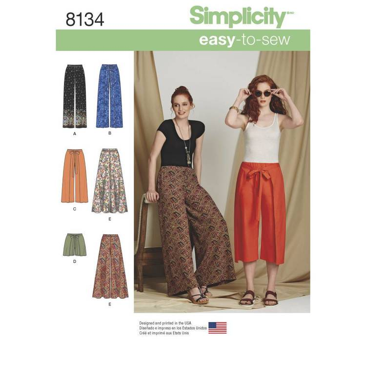 Simplicity Pattern 8134 Misses' Easy-To-Sew Pants & Shorts