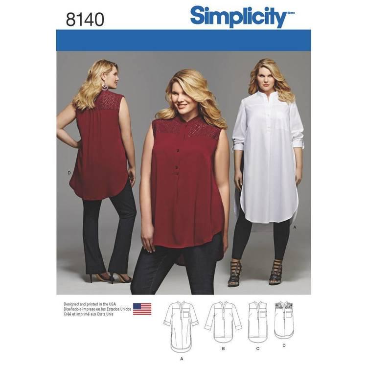 Simplicity Pattern 8140 Plus Size Shirt