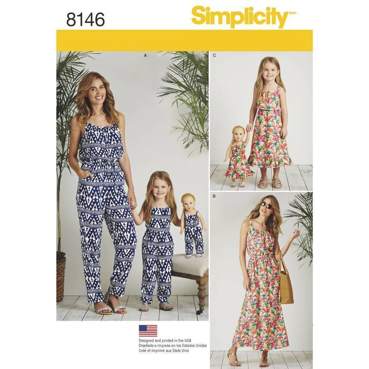 Simplicity Pattern 8146 Matching Outfits For Misses