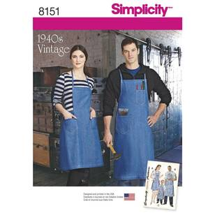 Simplicity Pattern 8151 Vintage Aprons For Boys