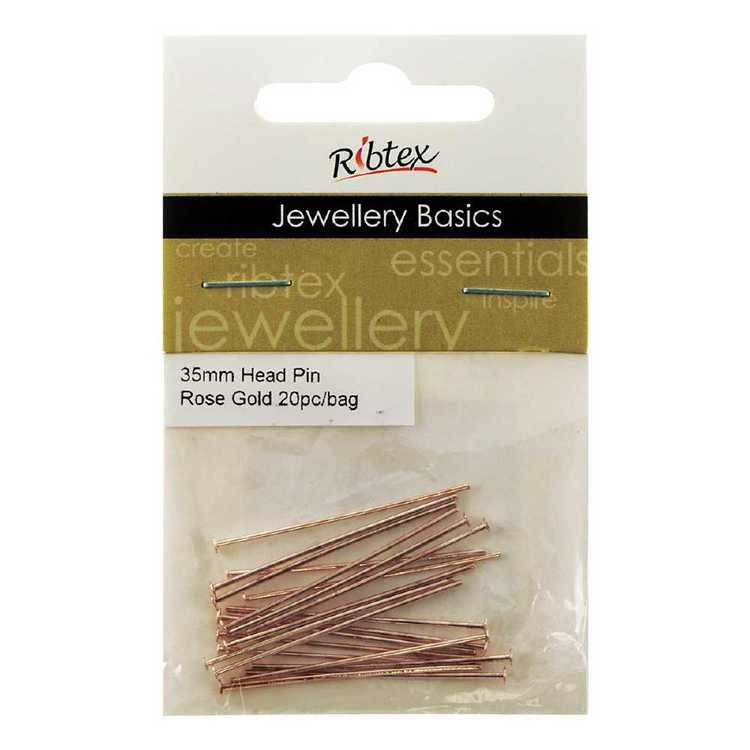Ribtex Jewellery Basics Head Pins 20 Pack