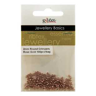 Ribtex Jewellery Basics Round Crimpers 100 Pack