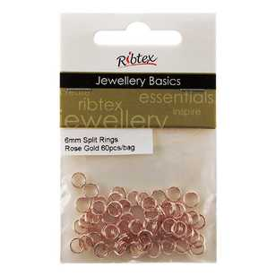 Ribtex Jewellery Basics Split Rings 60 Pack