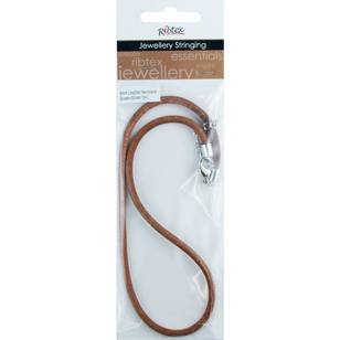 Leather 4 mm Necklace Clasp