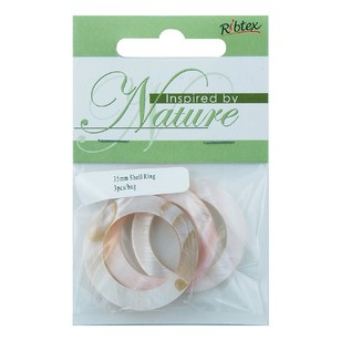 Ribtex Inspired By Nature Shell Ring 3 Pack
