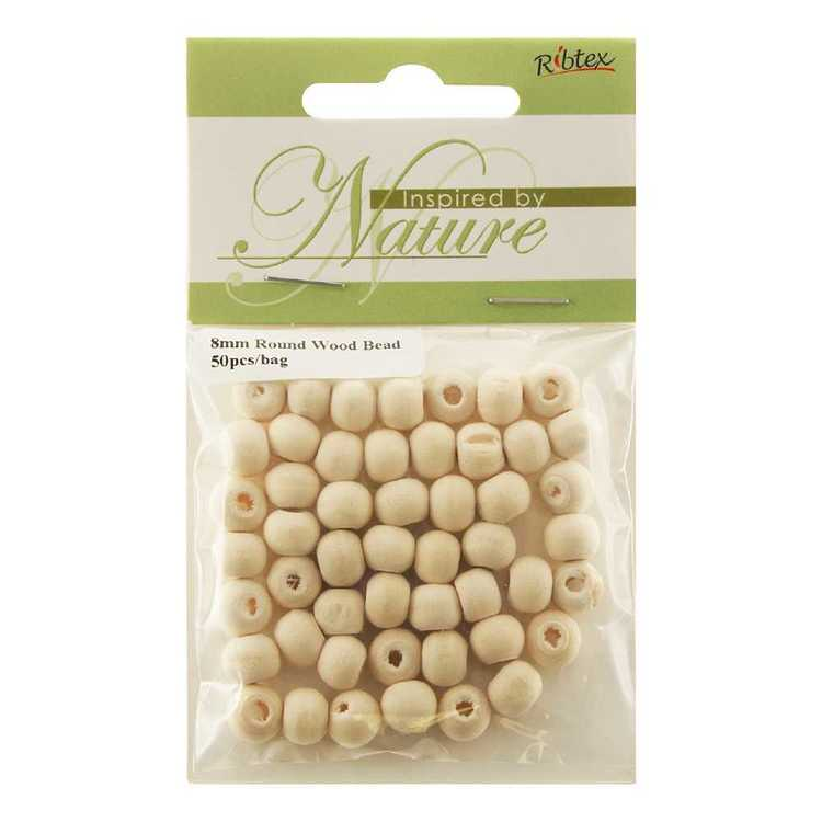 Non Varnish Round Wood Beads Pack