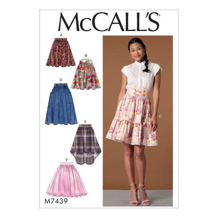 McCall's Pattern M7439 Misses' Gathered & Flared Skirts