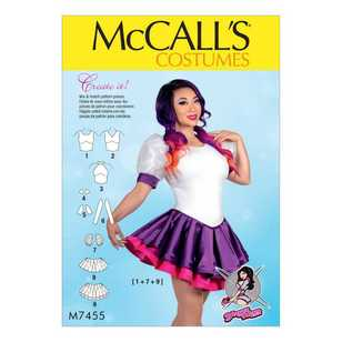 McCall's Pattern M7455 Misses' Skirted Leotards