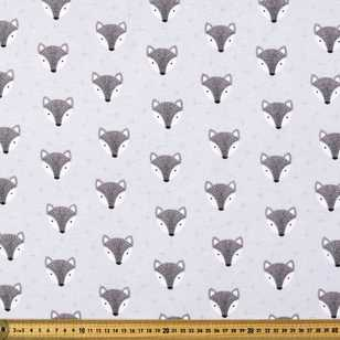 Fox Head Printed Flannelette