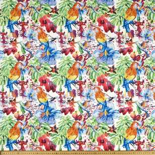 Hawaii Tropical Cotton Rib Curtain