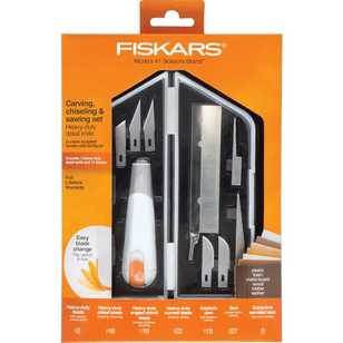 Fiskars Heavy-Duty Carving, Chiselling & Sawing Set
