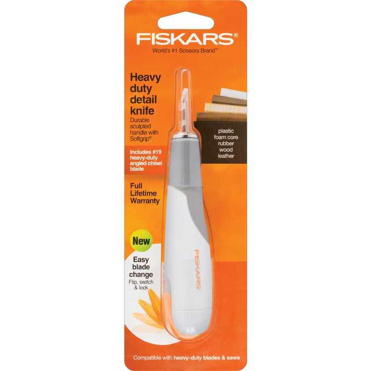 Fiskars Heavy-Duty Easy Change Detail Knife #2 Blade