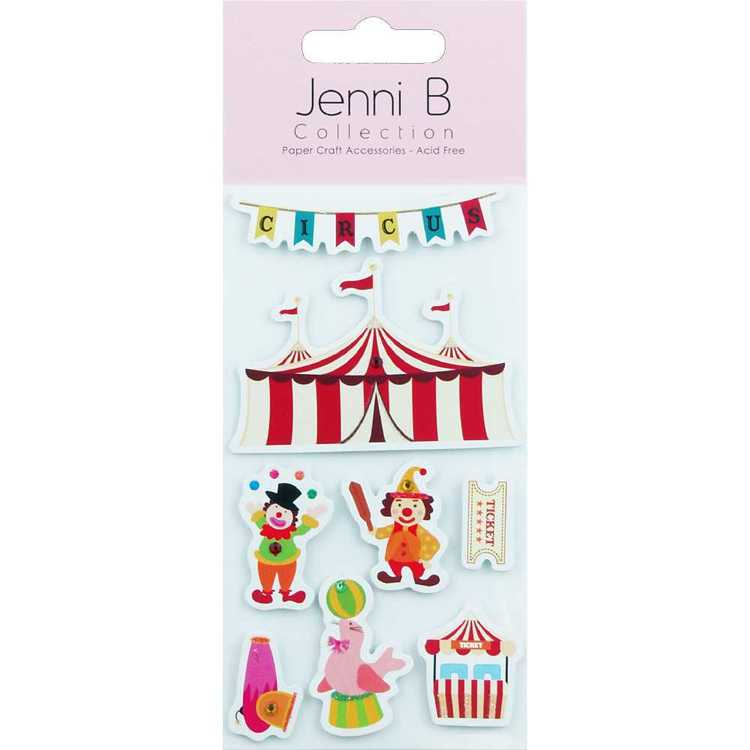 Jenni B Circus Sticker Multicoloured