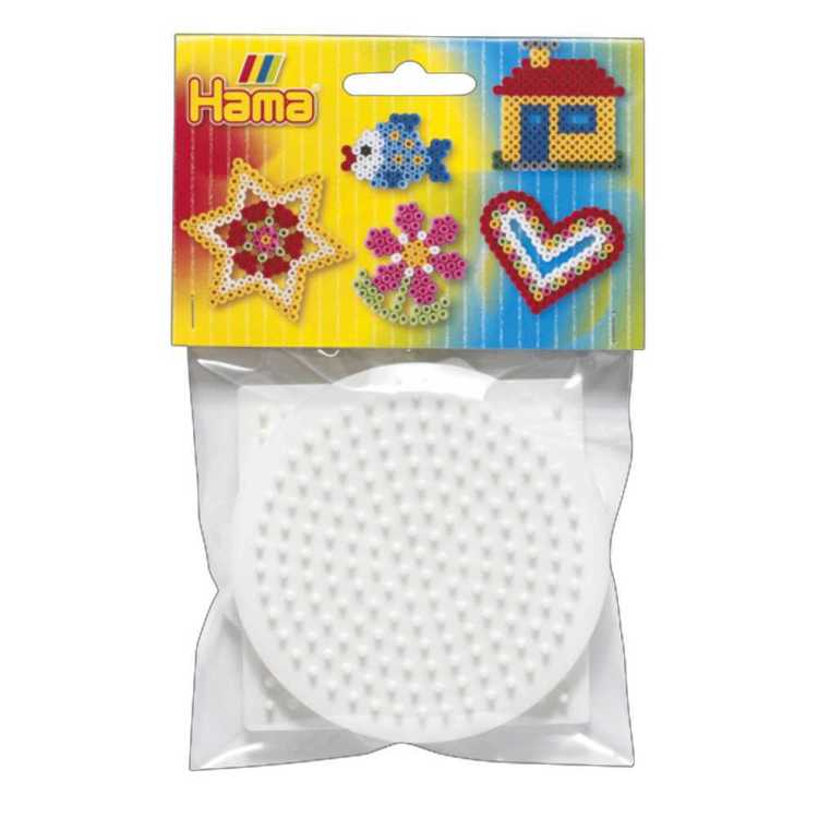 Hama Square, Round & Hexagon Peg Boards Multicoloured
