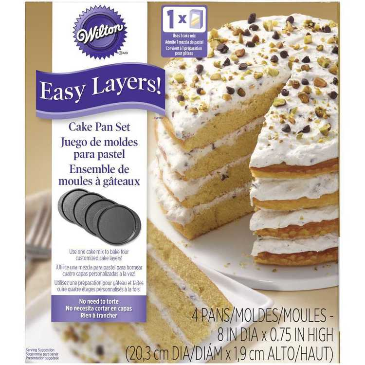 Wilton Easy Layers Round Pan Set Silver 8 in