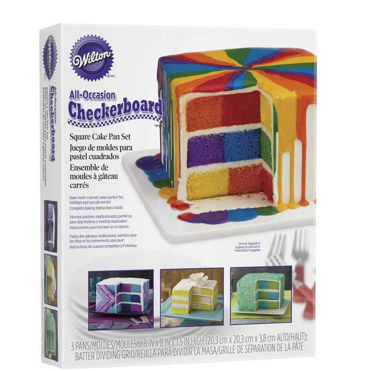 Wilton Square Checkerboard Cake Pan Set