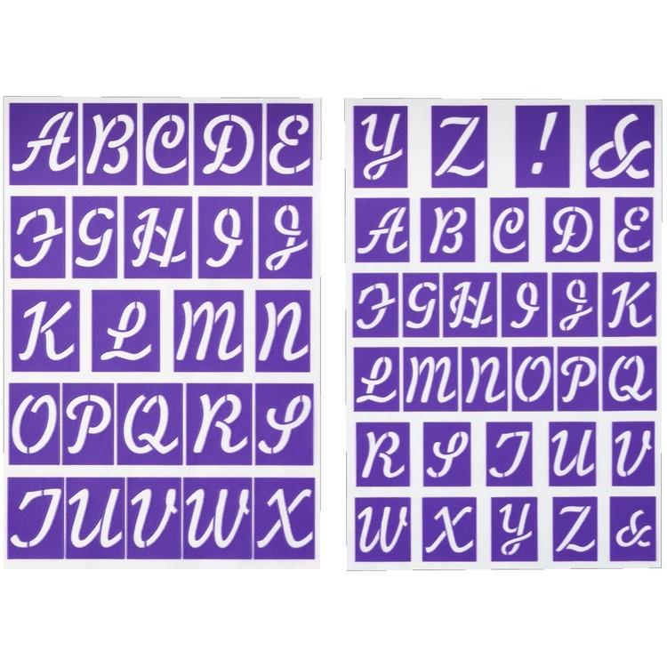 Wilton Stick N Stay Alphabet Stencils