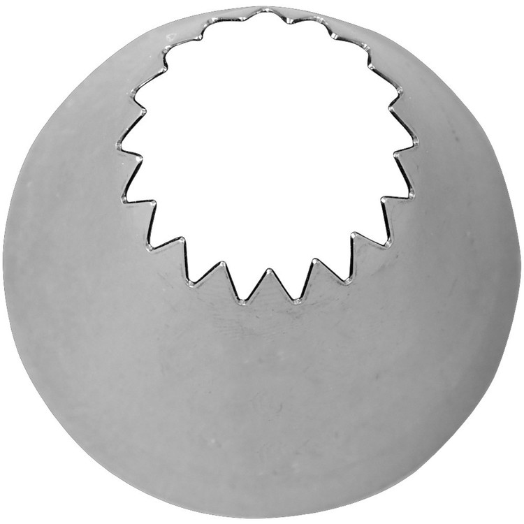 Wilton 8B Open Star Decorating Tip Silver