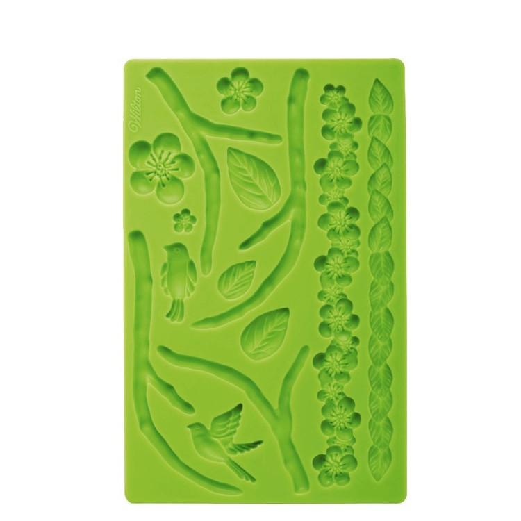 Wilton Silicone Mould Nature Fondant & Gum Paste