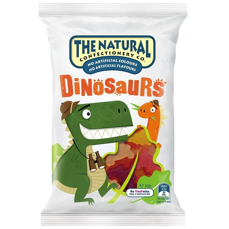 The Natural Confectionery Co. Dinosaurs Multicoloured 260 g